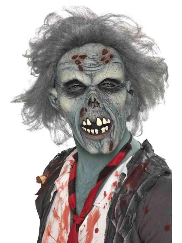Verrot Zombie Horror Masker Met Haar
