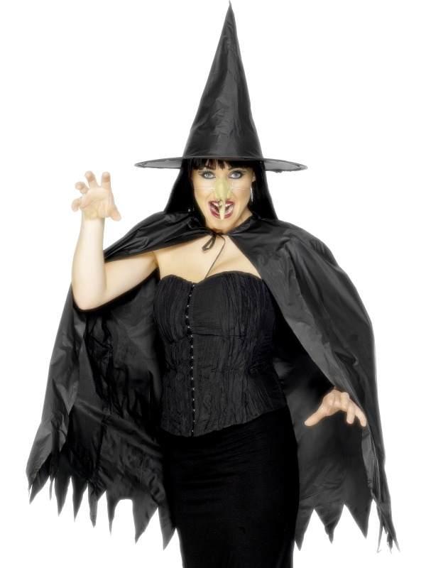 Heksen Verkleedsetje Met Cape, Heksenhoed & Neus