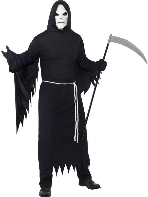 Magere Hein Halloween Kostuum met Masker