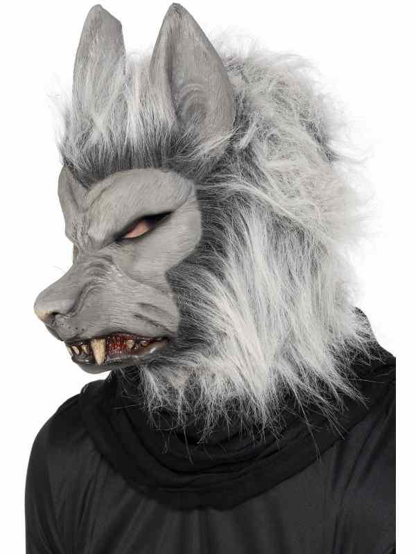 Grijs Weerwolf Halloween Masker