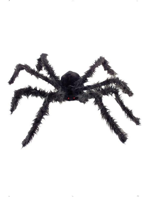 Grote Harige Zwarte Spin met Lichtjes