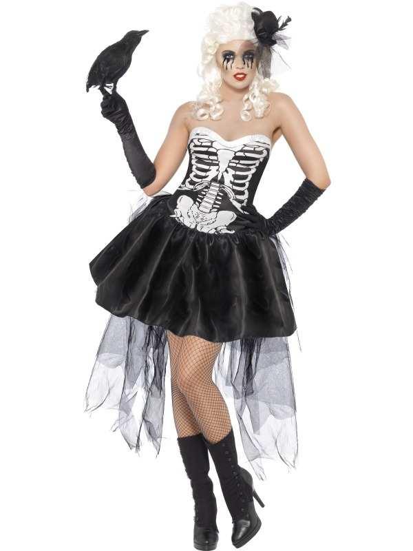 Skelly Von Trap Skeletten Halloween Jurk