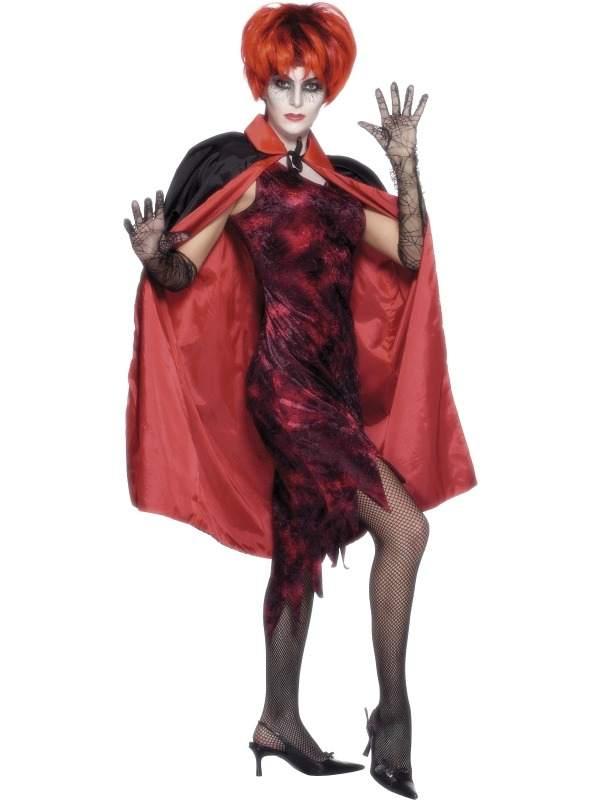 Reversible Dubbelzijdige Zwart Rode Vampieren Cape