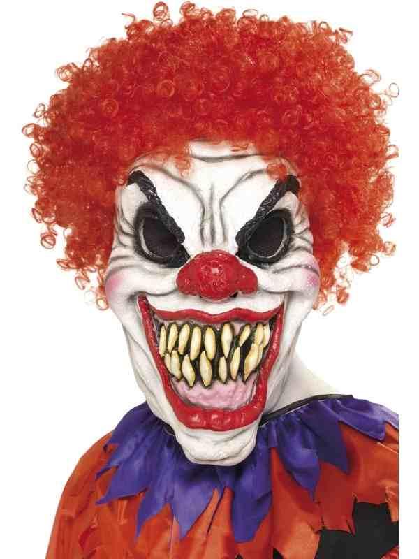 Eng Clown Masker met Rood Haar