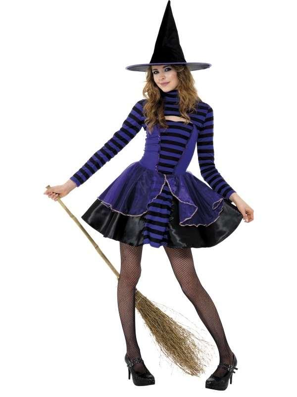 Teen Dark Fairy Heksen Halloween Kostuum