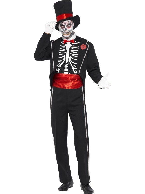 Day of the Dead Skeletten Heren Kostuum