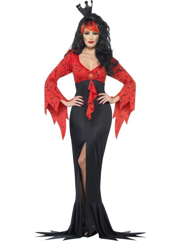 Evil Queen Dracula Dames Verkleedkostuum