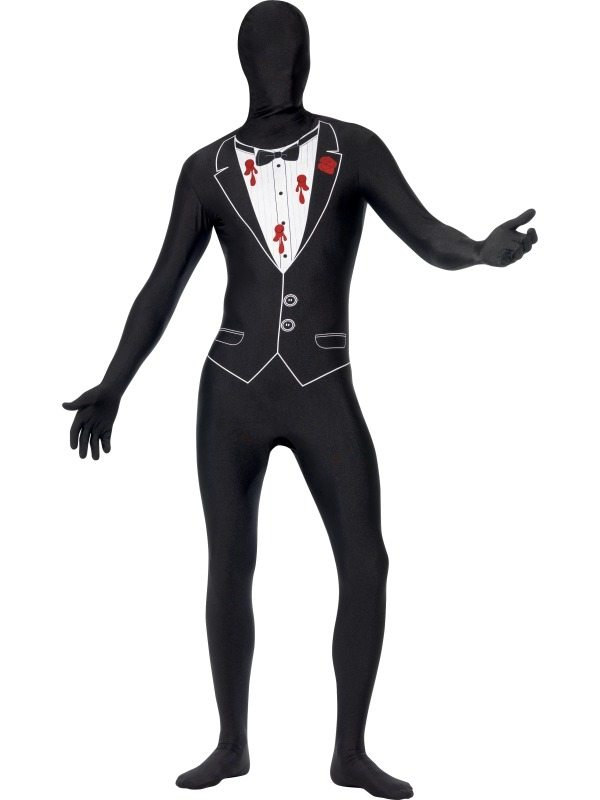 Beschoten Gangster Halloween Morph Suit Second Skin Kostuum