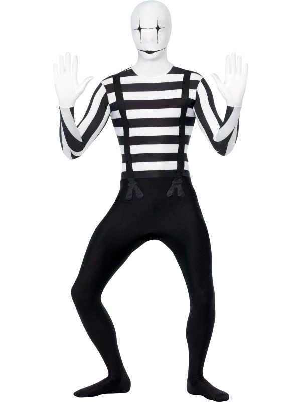Mime Speler Second Skin Morph Suit Kostuum