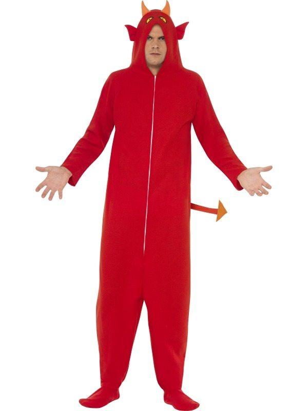 Duivel Heren Halloween Verkleedkostuum Jumpsuit