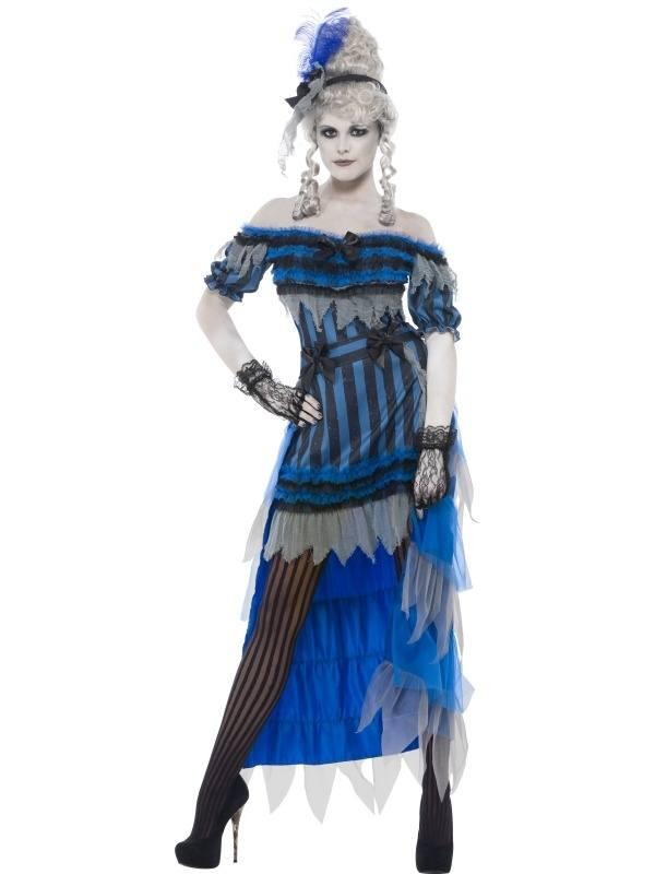 Ghostly Saloon Girl Zombie Halloween Kostuum