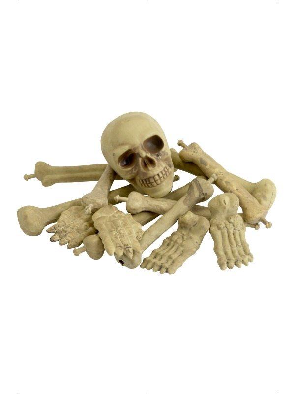 Net met Schedel en Botten Halloween Versiering