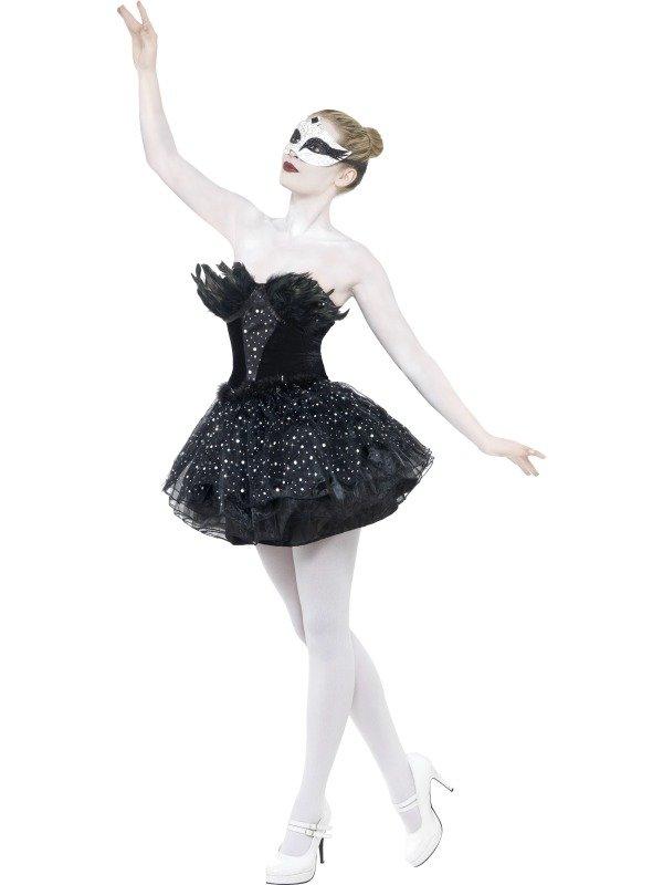 Gothic Black Swan Ballet Dames Kostuum