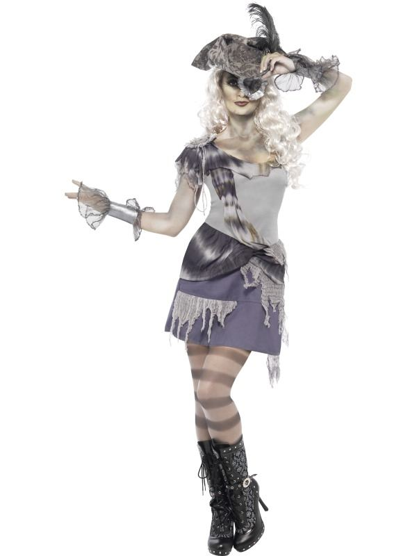 Spooky Piraten Zombie Dames Halloween Kostuum
