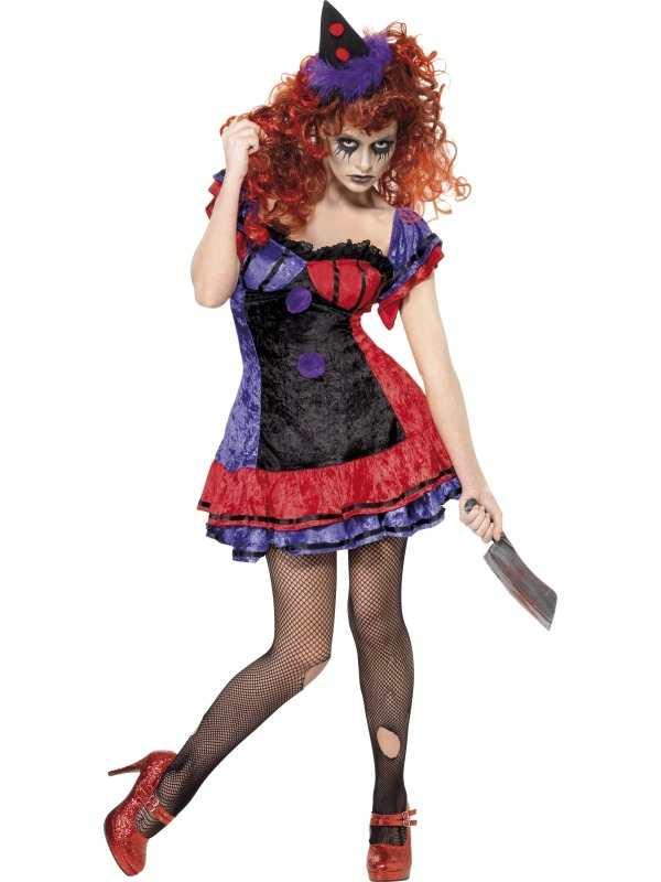 Circus Sinister Clown Dames Halloween Kostuum
