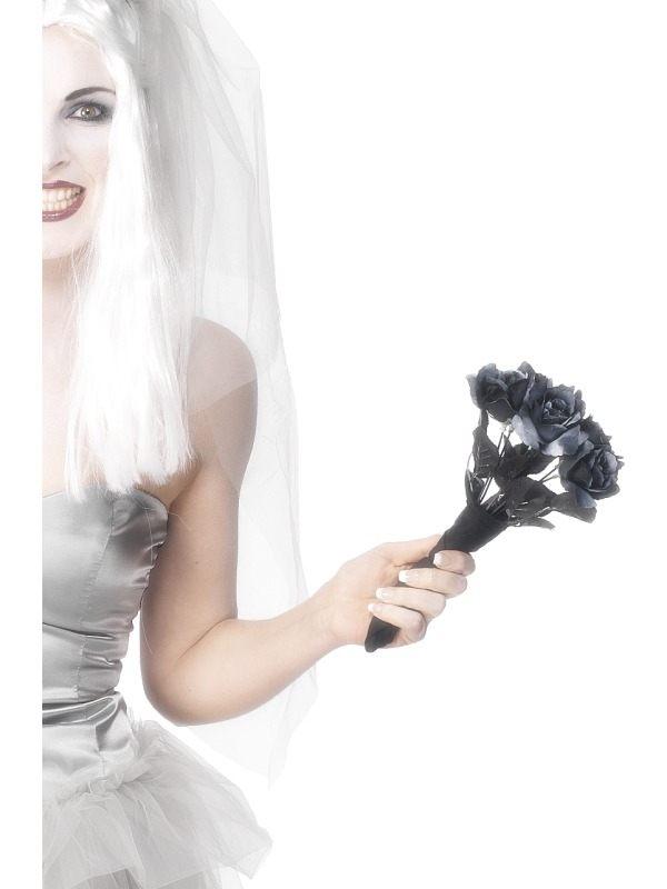 Zwart Bruidsbouquet Bloemen