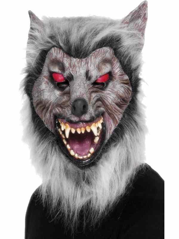 Eng Grijs Weerwolf Halloween Masker