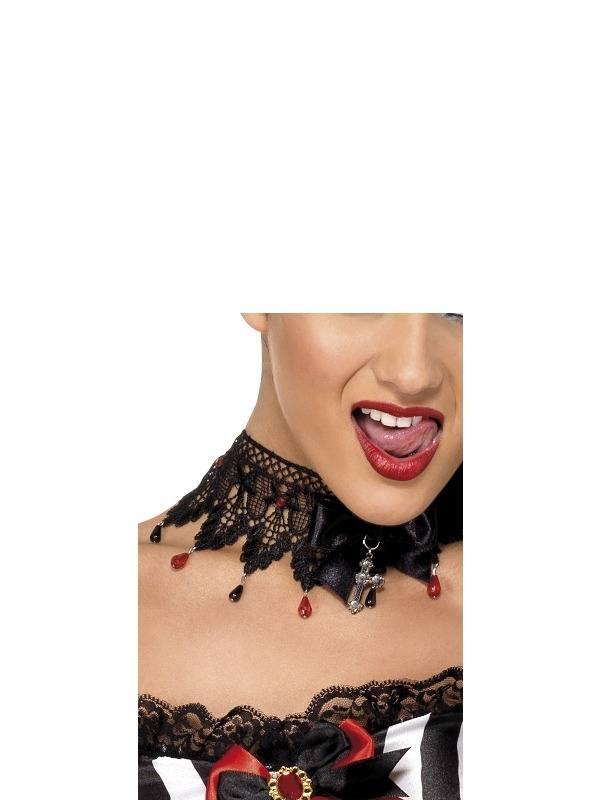 Gothic Kanten Halsband Ketting met Steentjes