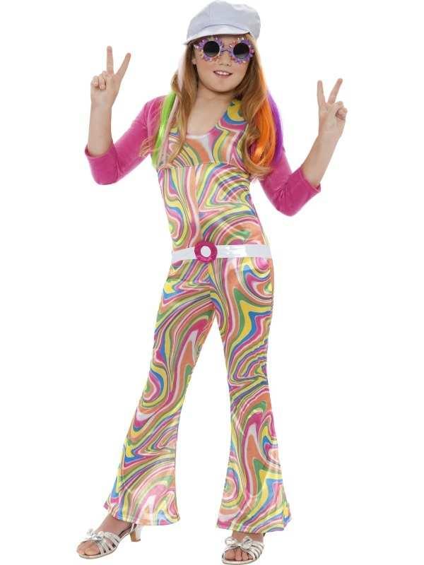 Groovy Glam Hippie Flower Power Meisjes Kostuum