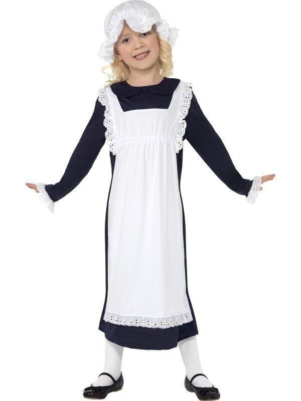 Victorian Poor Girl Arm Meisje Kostuum
