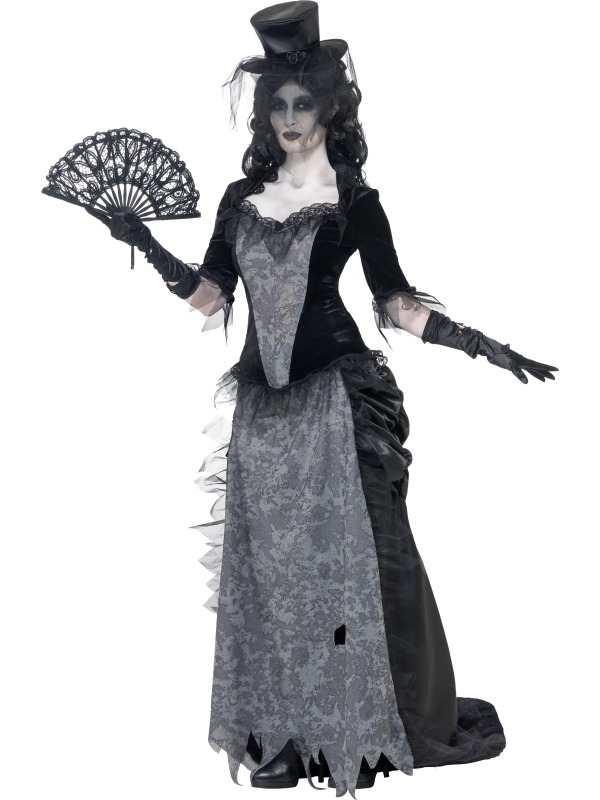 Ghost Town Zwarte Weduwe Dames Kostuum