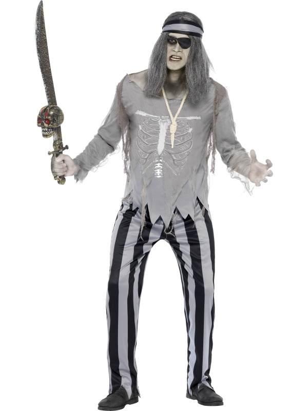 Ghost Ship Piraten Heren Horror Kostuum