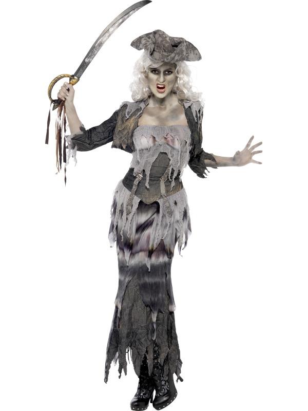 Ghost Ship Piraten Dames Halloween Horror Kostuum