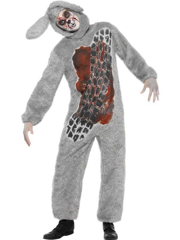 Doodgereden Konijn Horror Heren Halloween Kostuum