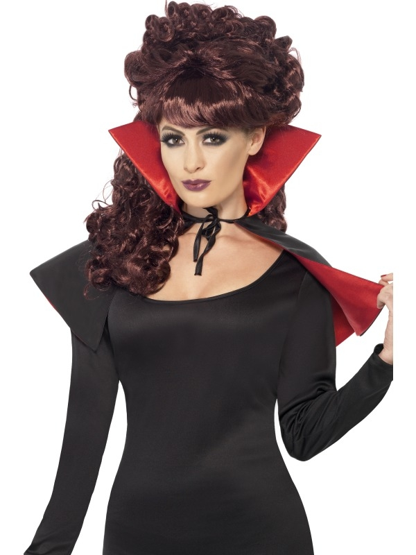 Zwart Rode Mini Vampieren Halloween Cape