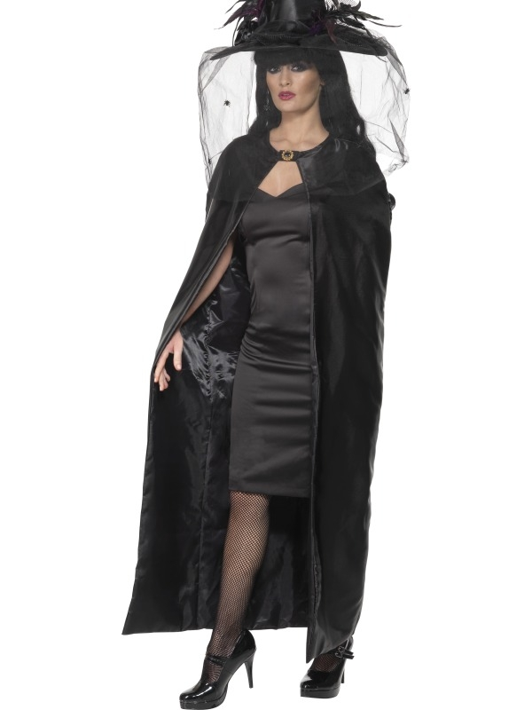 Luxe Heksen Cape Zwart