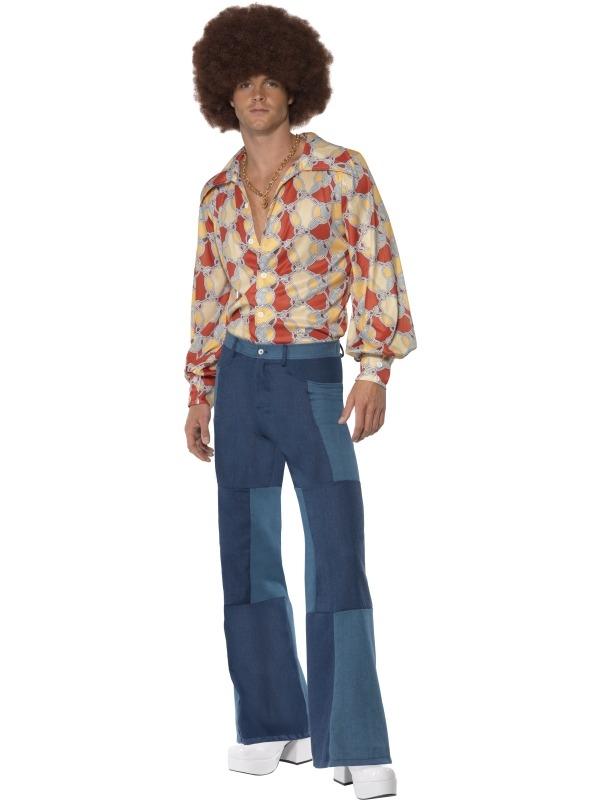 1970's Retro Heren Kostuum Met Shirt en Broek