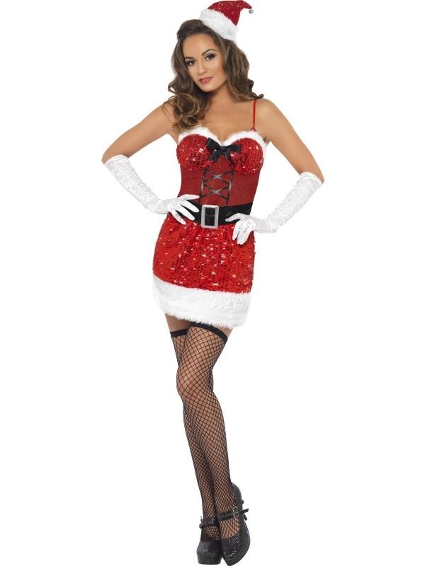 Fever Glitter Kerstvrouwen Kerst Kostuum