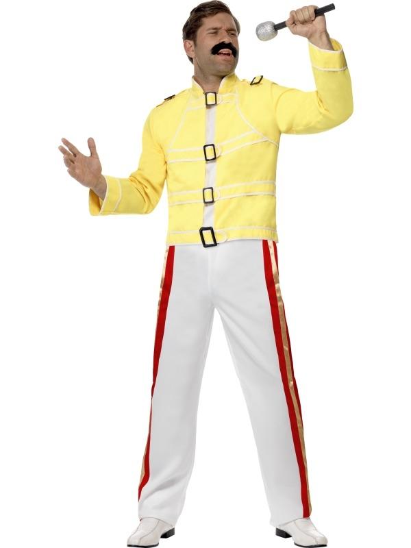 Rock Star Eddy Mercury Heren Verkleedkostuum