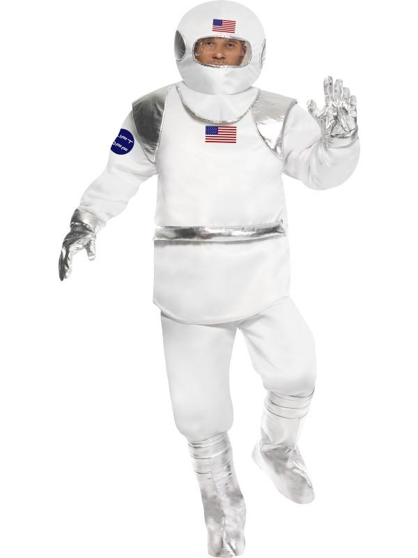 Spaceman Astronaut Heren Carnaval Verkleedkleding