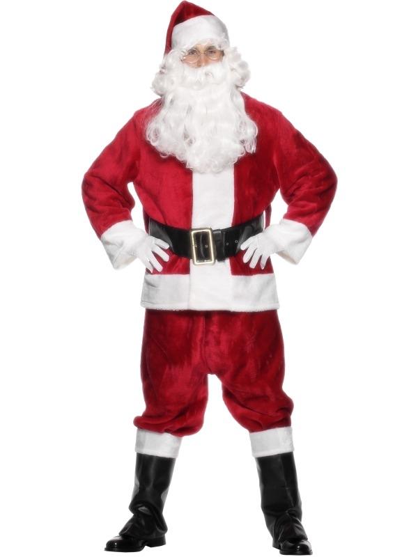 Pluche Kerstman Kostuum 6-delig