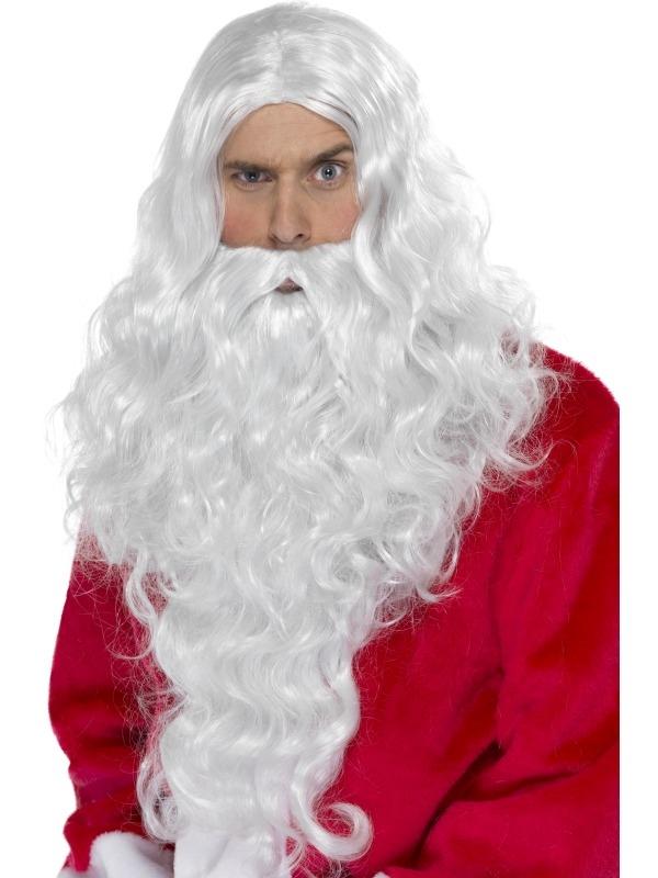Kerstman Lange Pruik en Baard