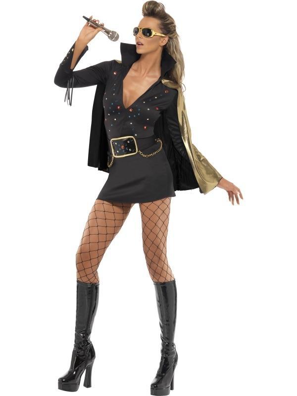 Zwart Elvis Viva Las Vegas Dames Kostuum
