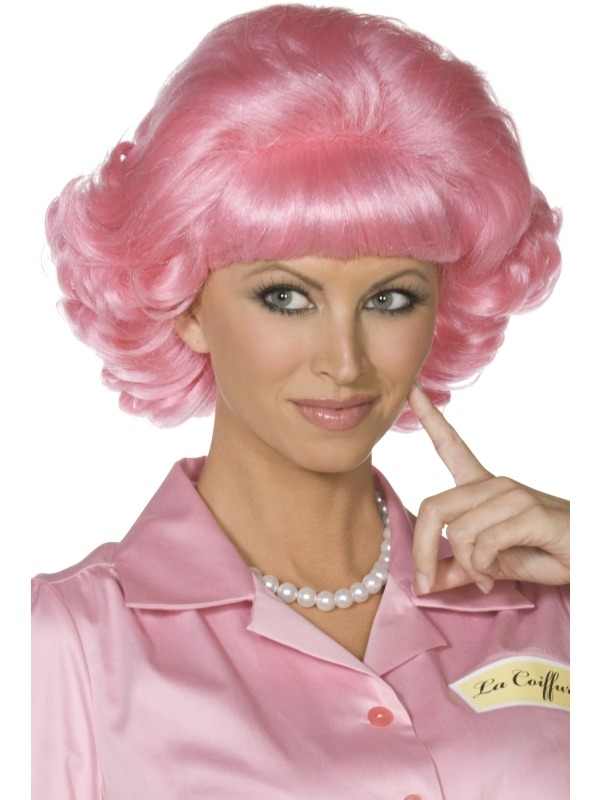 Roze Frenchy Grease Pruik