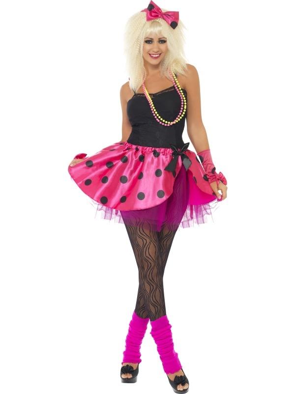 Roze Tutu Verkleedset 3-Delig Disco 80's Feest