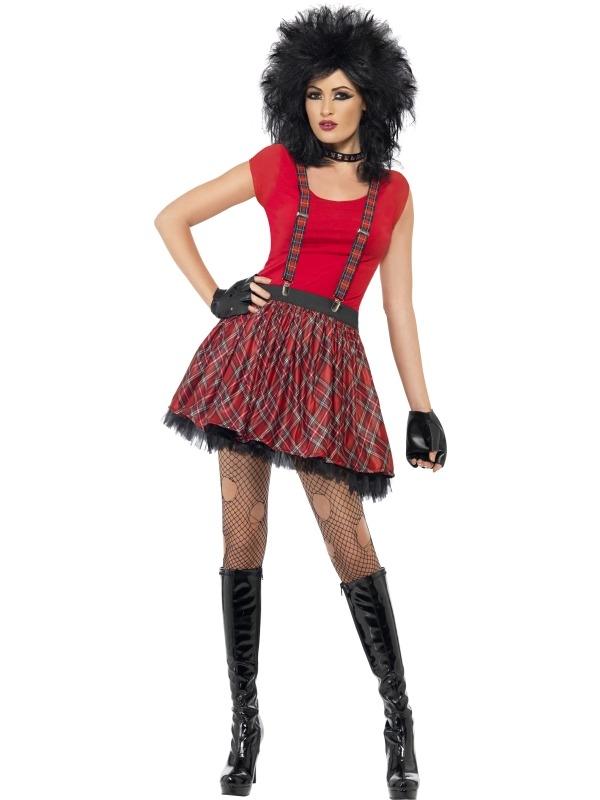 Punk Rock Chick Verkleedsetje 3-delig
