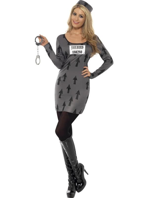 Jailbird Gevangenen Boef Dames Kostuum