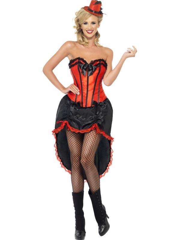Burlesque Rood Dans Kostuum