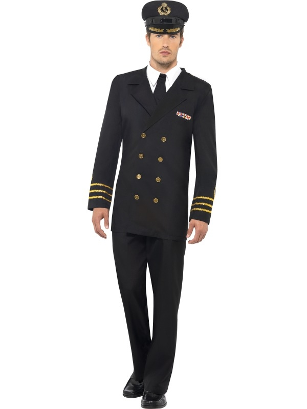 Navy Officier Heren Kostuum