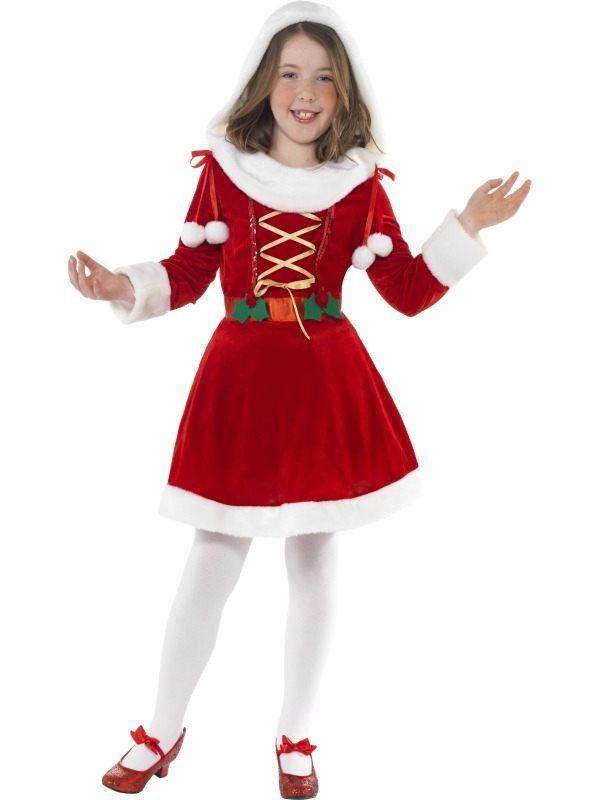 Little Miss Santa Kerstvrouw Kostuum