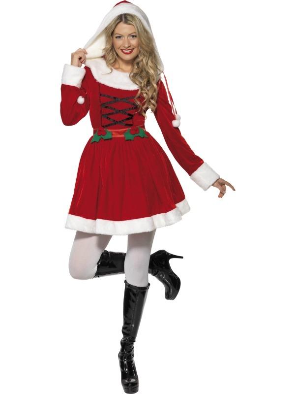 Miss Santa Kostuum met Muts