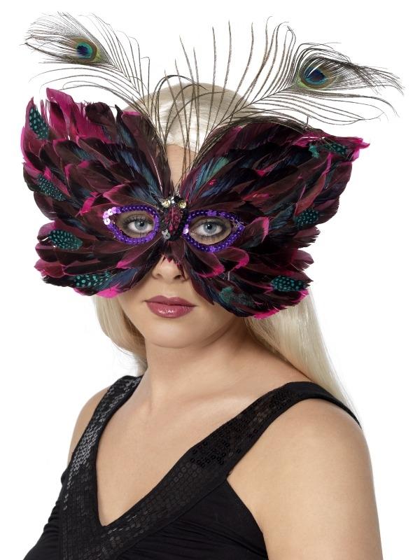Prachtige Veren Vlinder Masker Oogmasker