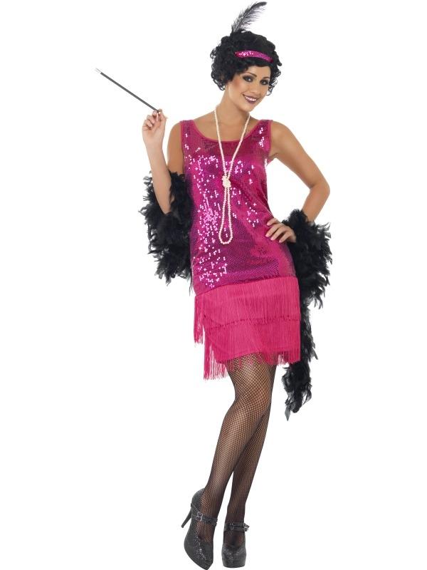 Roze Funtime Flapper 1920's Kostuum