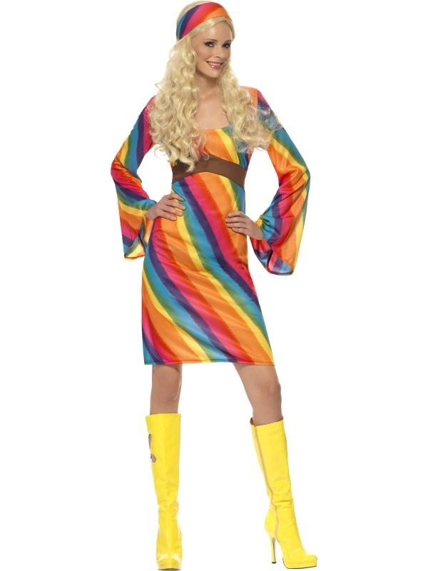 Regenboog Hippie Dames Verkleedkostuum