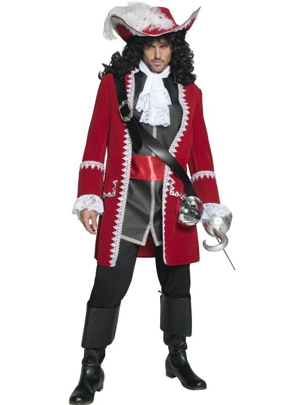 Exclusief Piraten Kapitein Kostuum in Rood
