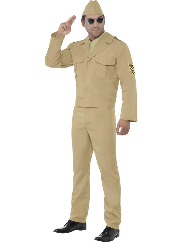 Amerikaanse GI Oorlog Heren Kostuum
